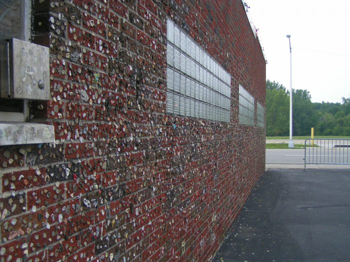 5. The Wall of Gum (Greenville)