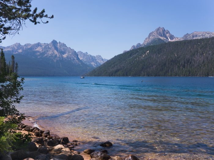 Though this alpine lake rarely tops 50 degrees, the view alone will keep you coming back.