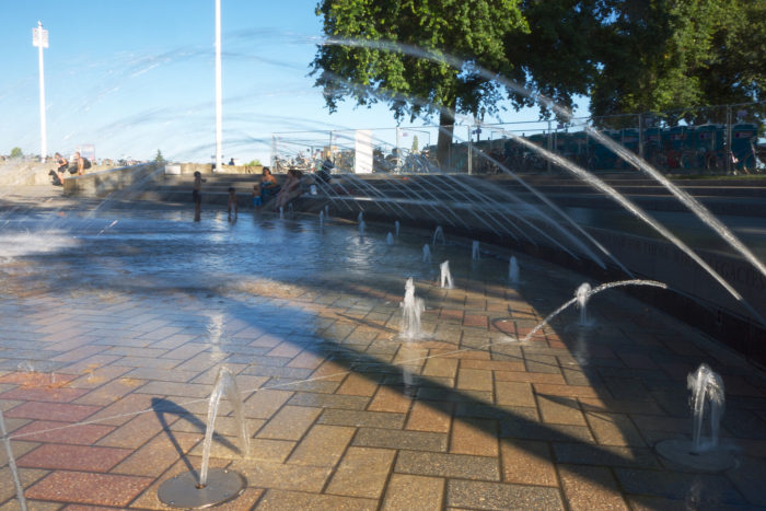 5. Waterfront Fountains