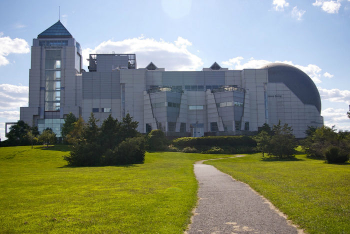 The iconic Liberty Science Center.