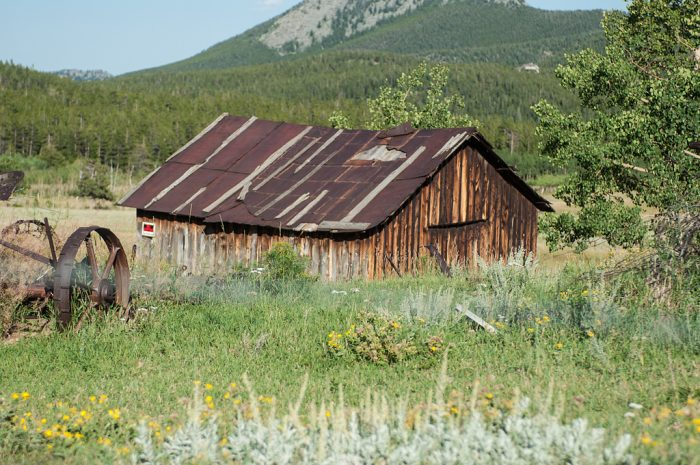 Snap photos of historic structures from bygone homesteads.