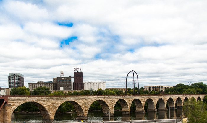 5. Walk across the Stone Arch Bridge and take time to appreciate the beauty of the great river that flows right through the heart of our cities.