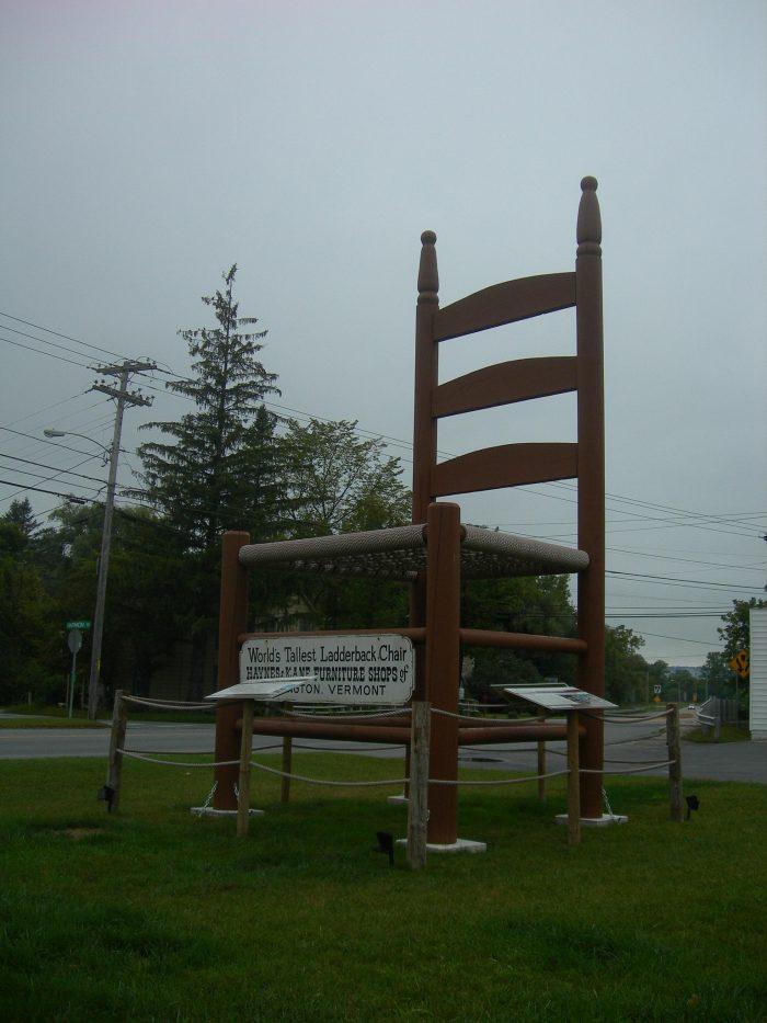 Worldu0027s Tallest Ladderback Chair, Bennington