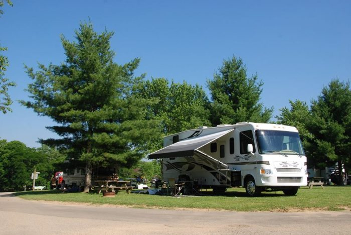 If you'd rather not pitch a tent, there's a wide variety of overnight accommodations to choose from. You could always hook up your RV...