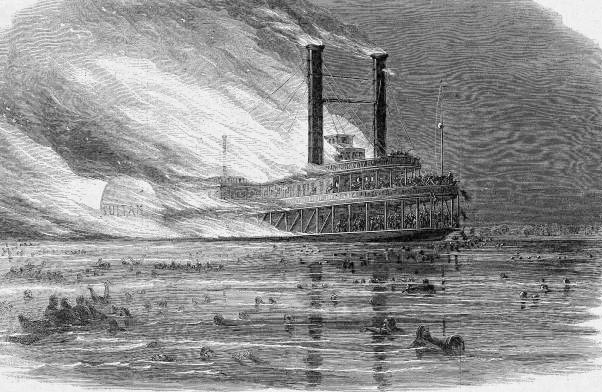6. A N Johnston steamboat explosion, 1847