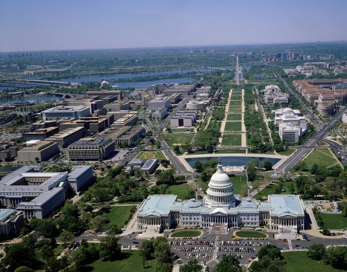 8. The Capitol Building, National Mall and the Washington Monument
