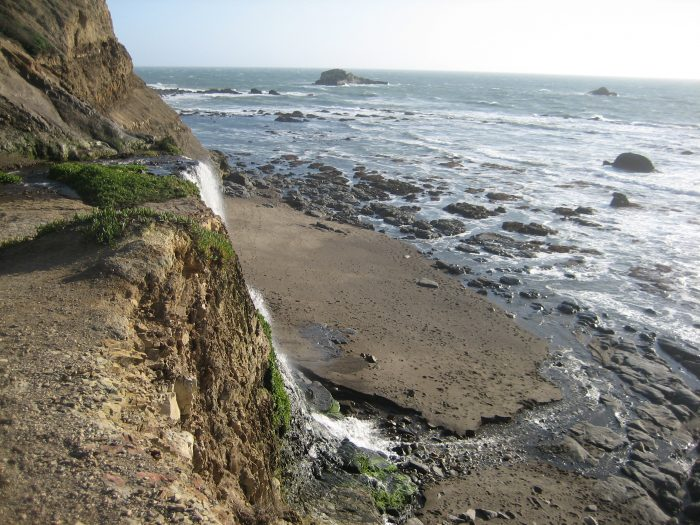 Now, look left: You've made your way to the top of Alamere Falls.