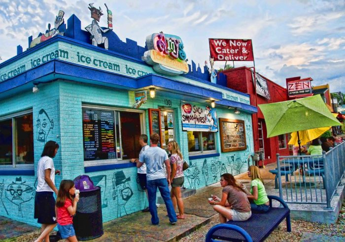 On a hot summer day, the line for ice cream will stretch down South Congress.