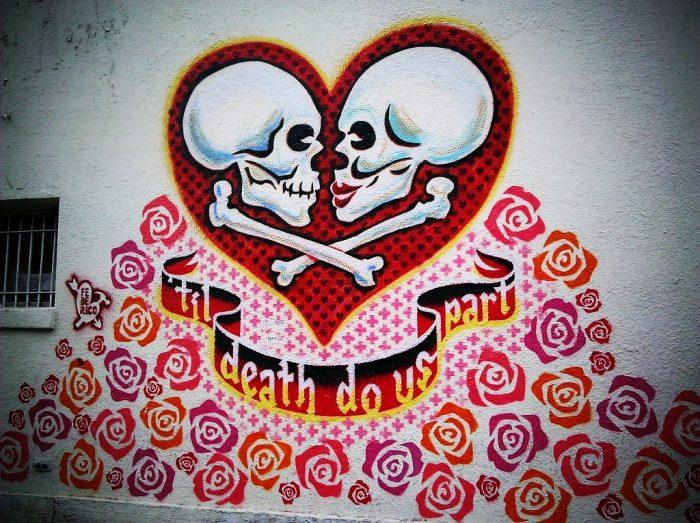 1. 'Til Death Do Us Part mural