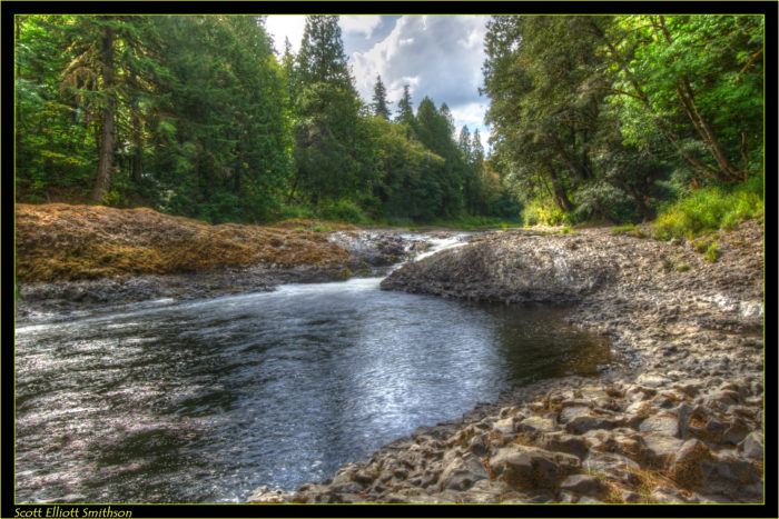 2. Go swimming in the Chehalis River at the beautiful Rainbow Falls State Park.
