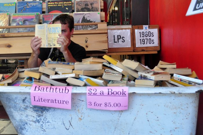 And don't forget to dig through the bathtub of cheap books.