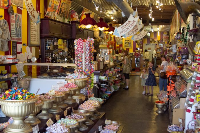 4. Big Top Candy's colorful display