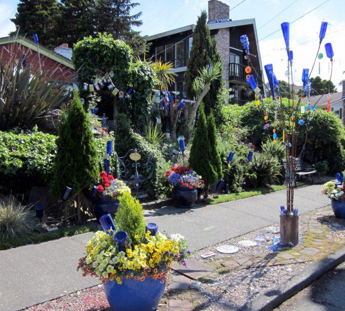 "7. The ""Blue Bottle House"" in West Seattle."