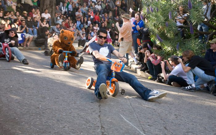6. Take a Big Wheel down the real crookedest street in the world: Vermont Street, every Easter Sunday.