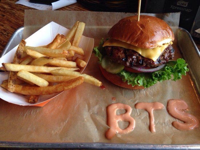 Burger tap and shake food