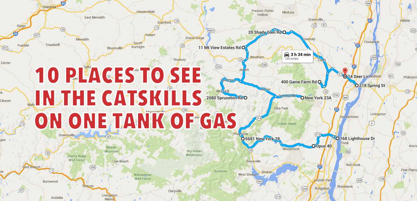 10 Places To See In The Catskills On One Tank Of Gas