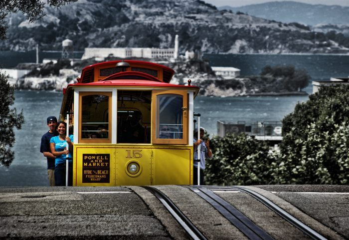 1. Ride a cable car!