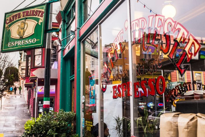 After your visit, head over to 601 Vallejo Street and grab an espresso at Caffe Trieste, one of the Beats' favorite hangouts.