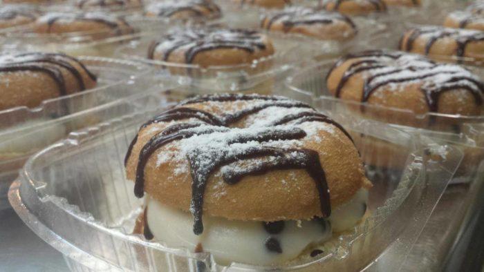 Cannoli Cream Donut Sandwiches
