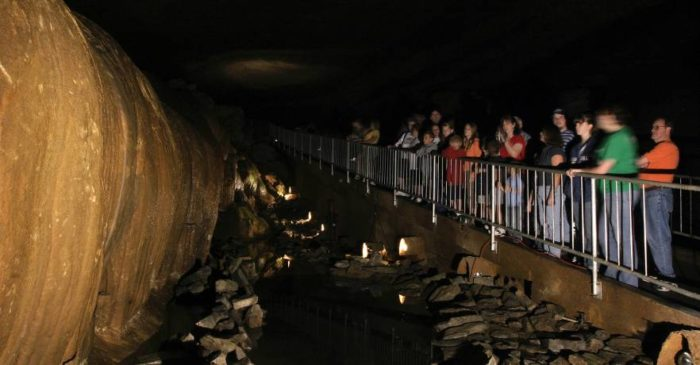 A tour of Cathedral Caverns will last approximately 90 minutes, with a walking distance of about 1.5 miles round trip.