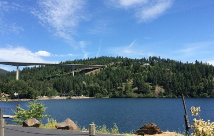 Start with a relaxing late afternoon drive across the Coeur d'Alene Scenic Byway.