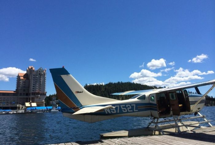 In the heart of Coeur d'Alene at Independence Point, board the Brooks seaplane for a breathtaking flight over the water.