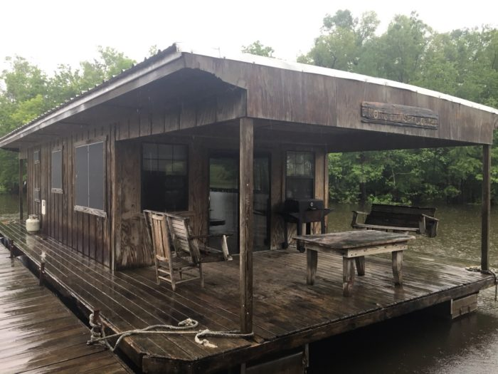 This houseboat, called the Allon Dancer Colinda, sleeps 8 people.