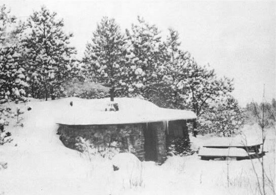2. House in the frozen winter near Custer, 1957