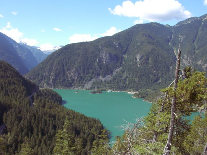 1. Diablo Lake, as seen from Thunder Point.