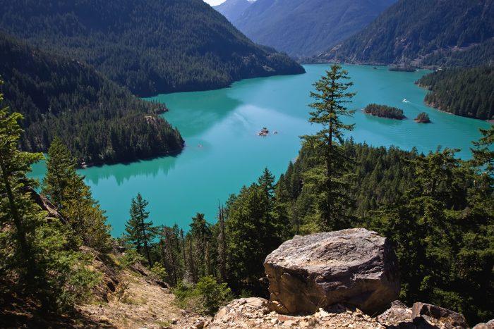 Diablo Lake In The North Cascades, Washington