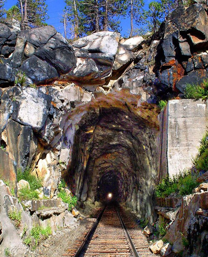 The tunnels date back to 1868, when the Central Pacific Railroad finally spanned northern Sierra Nevada.