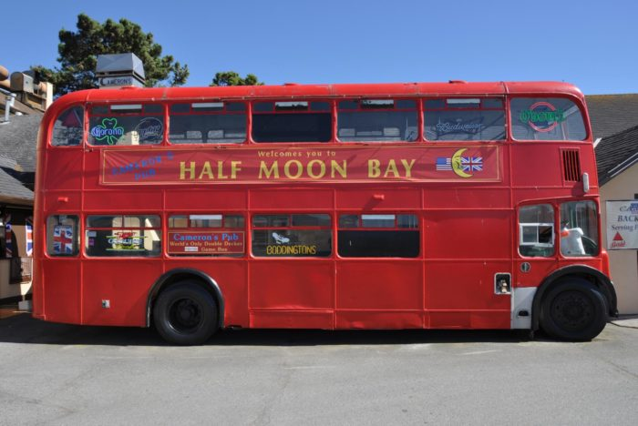 The downtown strip features plenty of great dining options, from the Half Moon Bay Brewing Company to Cameron's Pub with its double-decker bus.