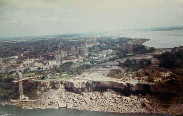 Pictured below, you can see a shot of the dried up American Falls from September 1969.