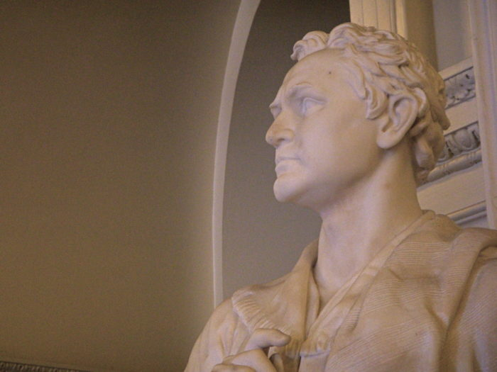 Her depiction of Stephen F. Austin sits in the Texas State Capital.