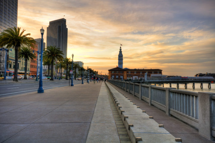 8. Take a pleasant walk along the Embarcadero, from the Bay Bridge to Fisherman's Wharf. And keep going all the way to Crissy Field if you're up for it!