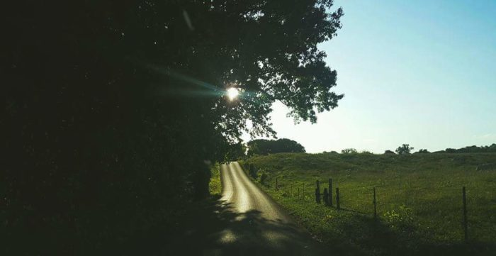 9. Someone should walk down this road dramatically - just to do it.