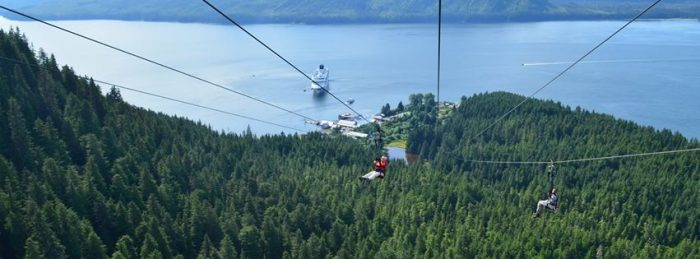 6. Whale watch while riding the world's largest zipline in Hoonah.