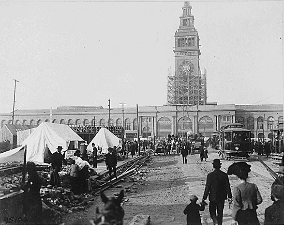 2. The Ferry Building: 1906 (After the Earthquake) & Now