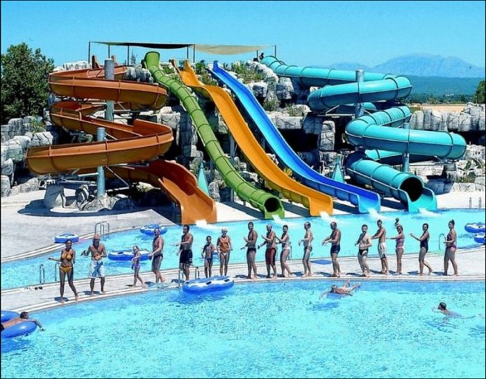 5. Outdoor water parks.