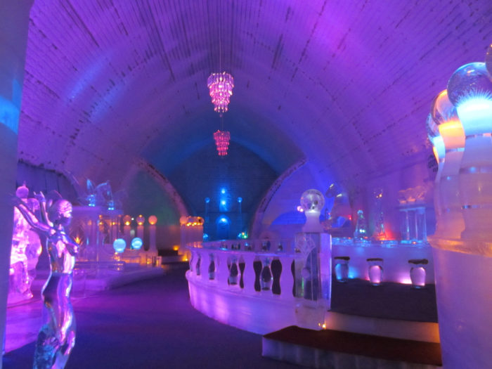 9. Throw on a parka and visit a hotel, museum and bar completely made of ice.