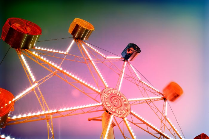 14. Amusement parks.