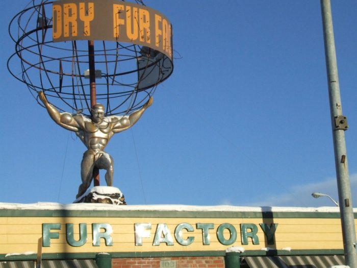14. Fur Factory Atlas Statue – Anchorage