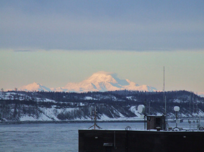 3. See the largest mountain in North America, from hundreds of miles away.