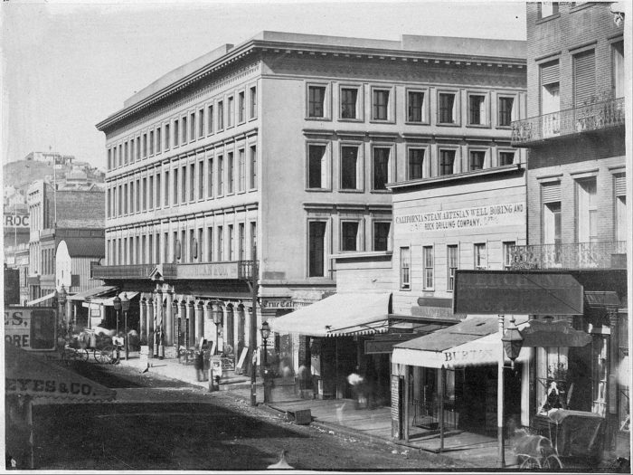 8. Montgomery Street: 1856 & Now