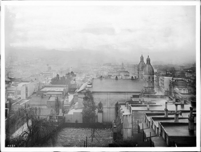 This pic was taken from Ina Coolbrith's window, circa 1905.