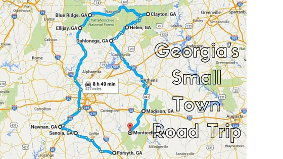 Forsyth Georgia Map.The Ultimate Georgia Small Town Road Trip