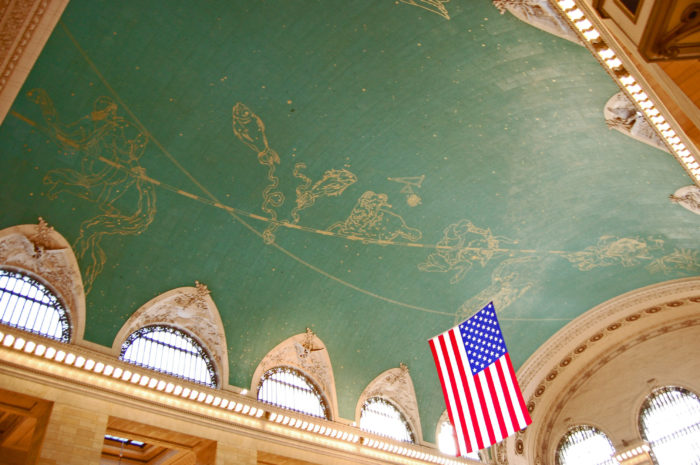 4. The zodiac mural you'll see painted across the ceiling isn't quite accurate.