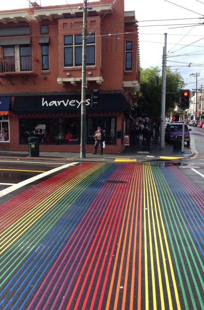 14. Walk the rainbow crosswalks of the Castro.