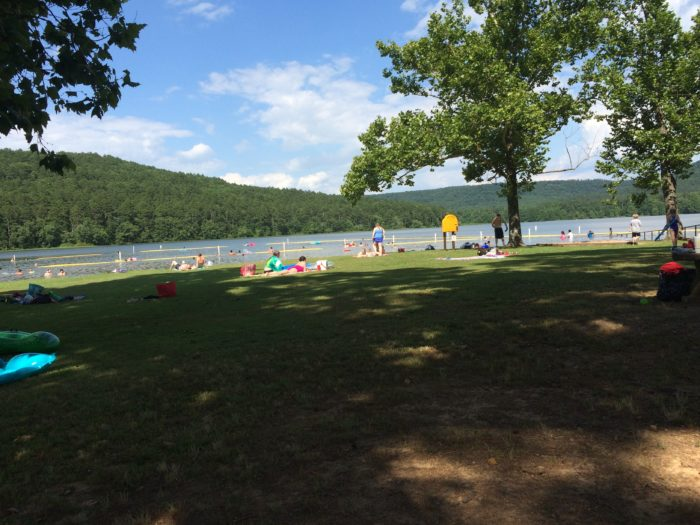 ...or if you have company. The whole lake is a no-wake zone during weekends and holidays, so it's perfect for swimming.