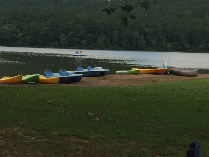 Don't own a kayak? That's OK. You can rent paddleboats, canoes, and kayaks to explore the shoreline from the water.